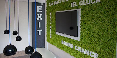 Зеленые стены из мха